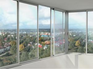 Окно с алюминиевым профилем Provedal