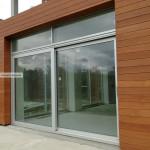Раздвижные алюминиевые двери REYNAERS на объекте